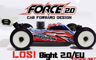Nueva Bittydesign Force 2.0 para Losi 8ight