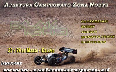 Apertura del Campeonato zona norte de Chile, por Calama RC Pro Nitro