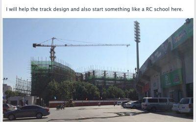 Circuito indoor y escuela de RC en china con Masami Hirosaka