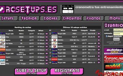Ranking de coches y reglajes en RCSetups.es