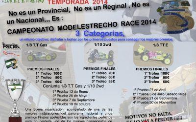Cartel informativo del Campeonato Modelestrecho 2014
