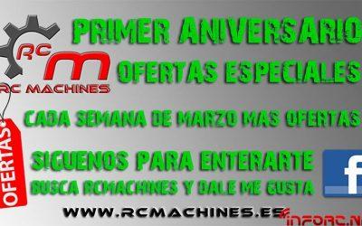 Primer aniversario de RC Machines ¡Aprovecha sus ofertas!