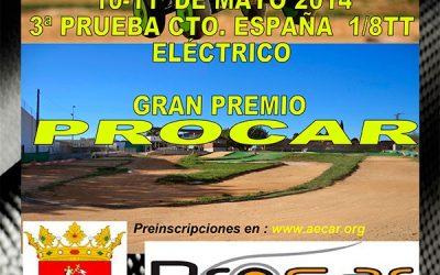 Tercera prueba del Campeonato de España 1/8 TT eléctrico este finde