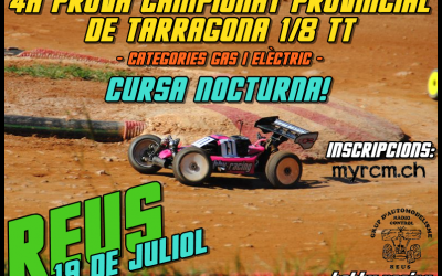 Carrera nocturna en Reus. Cuarta prueba Provincial de Tarragona 1/8 TT