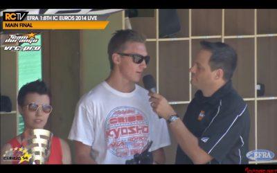 #Euro2014 David Ronnefalk, campeón de Europa 1/8 TT Gas 2014