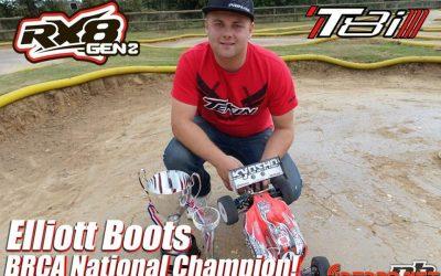 Elliot Boots y Tekin, vencedores del Campeonato Inglés 1/8 TT E BRCA