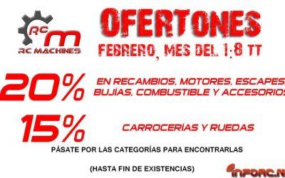 Ofertas de Febrero en RCMachines.es para 1/8 TT