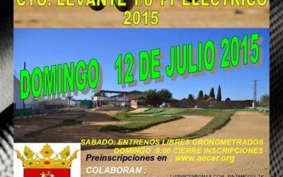 El 12 de Julio: cuarta prueba del Cto. del Levante 1/8 TT-E. Sant Joan De Moro