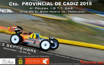 Este finde - Campeonato Provincial de Cádiz 1/8 TT Gas 2015 - Trebujena