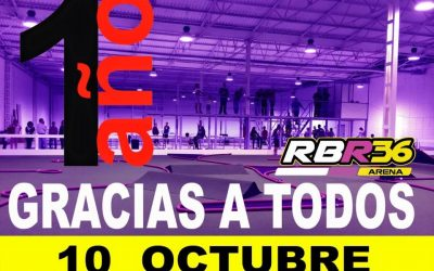 RBR36 Arena. ¡El 10 de Octubre es su primer cumpleaños!
