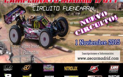 1 de Noviembre - Última prueba del regional de Madrid 1/8 tt gas 2015