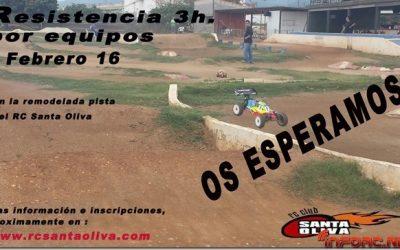 7 de Febrero - Resistencia de 3 horas por equipos en RC Santa Oliva