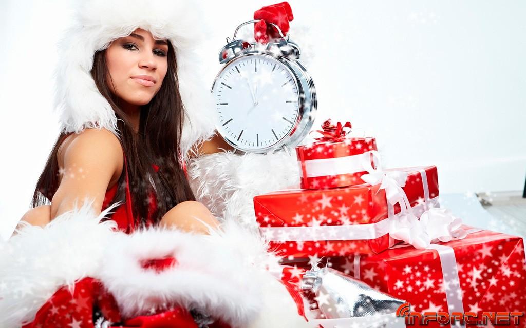 santa-girl-gifts-clock-christmas-wallpapers