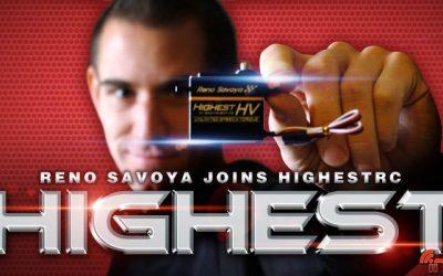 Reno Savoya renueva con servos Highest para la temporada 2016