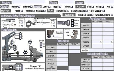 Hoja de reglajes editable en PDF para Tekno NB48.3
