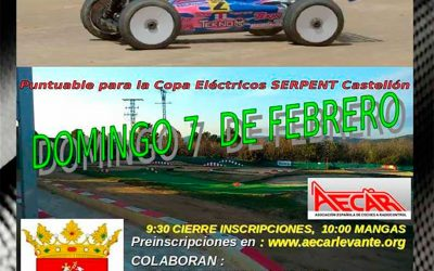 Este finde - Cuarta prueba del Campeonato Provincial Castellón 1/8 TT Gas