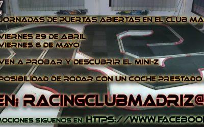 29 de Abril - Jornada de puertas abiertas en el Club Madri-Z ¡No te lo pierdas!