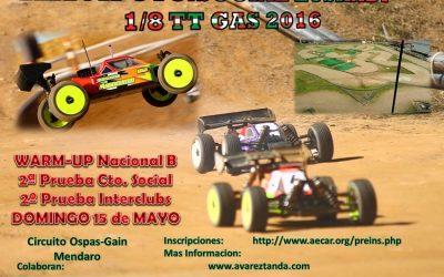 15 de Mayo - Warm Up Nacional B 1/8 TT gas en Mendaro, Euskadi