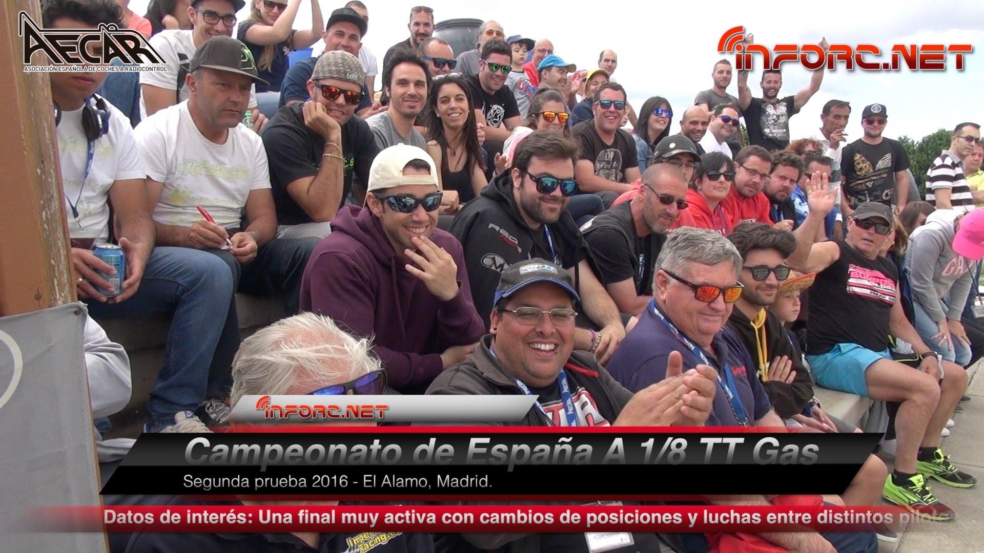 Vídeo y galería de fotos - Final del Campeonato de España 1/8 TT Gas en El Alamo