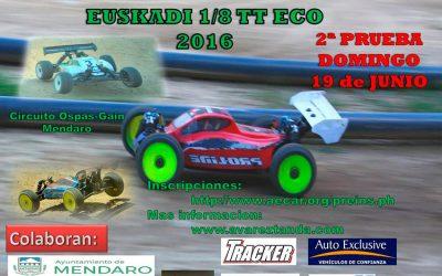 19 de Junio - Segunda prueba Camp. Social Euskadi 1/8 TT Eco