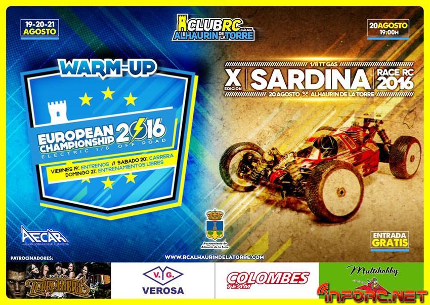 19 al 21 de Agosto - Warm Up Euro 1/8 Off Road Eco en Alhaurín de la Torre. Carrera 2 en 1