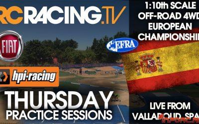 Video en directo - Comienza el Campeonato de Europa 1/10 4WD