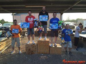 1º - Luis Miguel Calleja - Team Associated  2º - Carlos Serra - Tekno RC  3º - Vicente Sales - Tekno RC  4º - Henry Grau - Serpent  5º - Miguel Angel Aguilera - Tekno RC