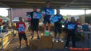 1º - Borja Rodríguez - Sworks  2º - Alejandro Gual - Sworks  3º - Jorge Galvan - Xray  4º - Ignacio Domenech - Mugen  5º - Diego Galvan - Xray