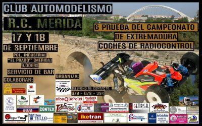 17 y 18 de Septiembre - Sexta prueba del Campeonato de Extremadura 1/8 TT gas
