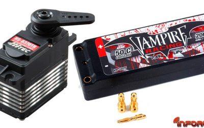 Hobbycar RC - Disponibles los nuevos servos Hitec de alto rendimiento HS-8370TH y la gama de baterías Vampire