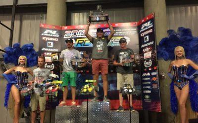 David Ronnefalk, campeón del mundo 1/8 TT Gas 2016. ¡Robert Batlle segundo clasificado, con piedra y todo!