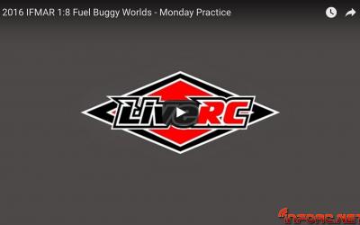 Video en directo - Lunes en el Campeonato del Mundo 1/8 TT Gas en Las Vegas. Tiempos y series de pilotos.