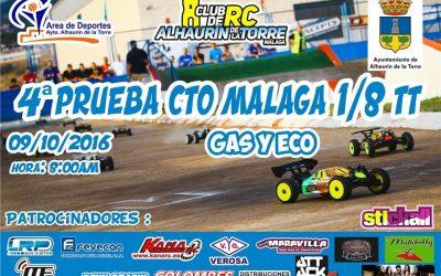 Domingo 9 - Cuarta prueba Campeonato de Málaga 1/8 TT en Alhaurín de la Torre