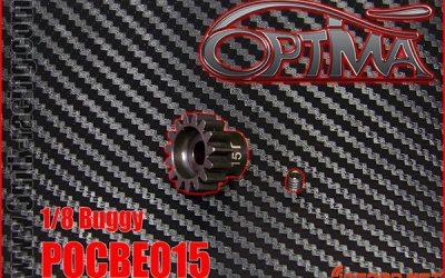 Piñones de acero Óptima de 6Mik para 1/8 brushless
