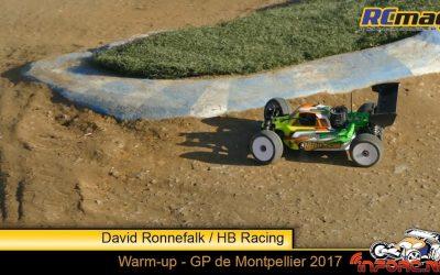 Video - David Ronnefalk con su HB Racing en el Warm Up del GP de Montpellier
