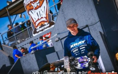 Ty Tessmann, poleman en buggy nitro de la Dirt Nitro Challenge. Maifield gana en truggy.