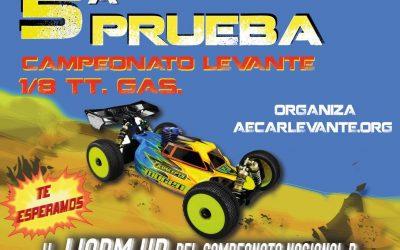 12 de Marzo - Quinta prueba Campeonato del Levante 1/8 TT Gas 2017 en La Nucía