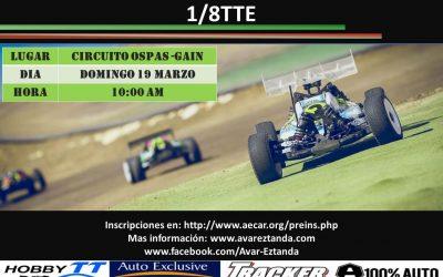 19 de Marzo - Primera prueba Campeonato Social de Euskadi 1/8 TT Electrico