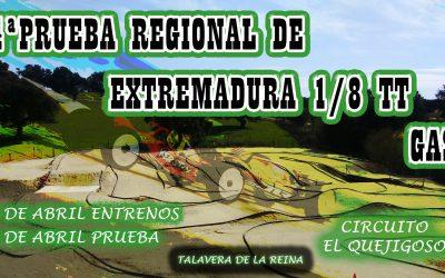 9 de Abril - Cuarta prueba Campeonato Regional de Extremadura 1/8 TT Gas 2017