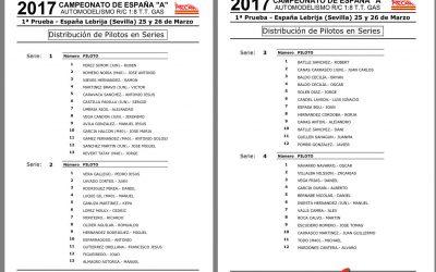 Campeonato de España A 1/8 TT Gas 2017 - Lebrija. Distribución de pilotos y horarios.
