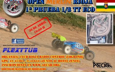 30 de Abril - Primera prueba Campeonato 1/8 TT Eléctrico La Rioja