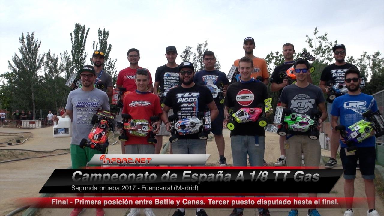 Video - Final comentada del Nacional A 1/8 TT Gas en Fuencarral. Con Robert Batlle y Miguel Zambrana.
