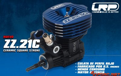 Nuevo motor LRP ZZ.21C cerámico, carrera cuadrada