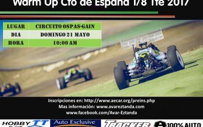21 de Mayo - Warm Up Campeonato de España 1/8 TT Eléctrico en Mendaro