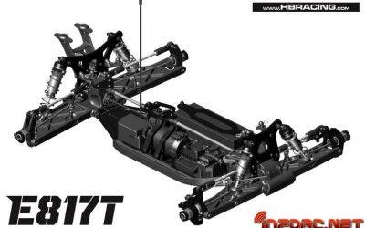 HB Racing E817T, el truggy eléctrico de HB, disponible en Septiembre