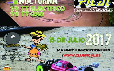 15 de Julio - Primera nocturna 1/8 TT nitro y eléctrico en Pical