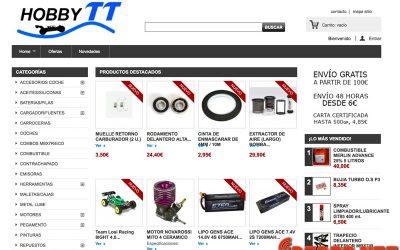Hobby TT estrena nueva web. Mejor experiencia de compra y stock permanente