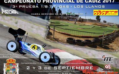 2 y 3 de Septiembre - Tercera prueba Campeonato Provincial de Cádiz 1/8 TT Gas 2017