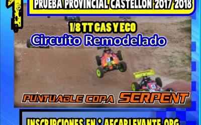 3 de Septiembre - Primera prueba del Provincial Castellón 2017/18