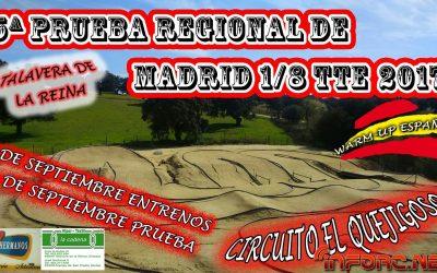 2 y 3 de Septiembre - Quinta prueba regional de Madrid 1/8 TTE. Warm Up Nacional Eléctrico